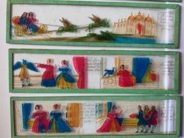 Plaques De Verre Peintes Pour Lanternes Magiques / Le Prince Charmant /Histoire Complète En 6 Plaques - Autres Collections
