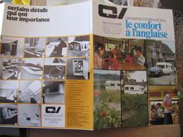 Dépliant 3 Volets - C.I. CARAVANS INTERNATIONAL - CARAVANE- Années 70 - Publicités