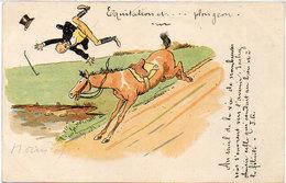 MORIN Henri ?  Equitation Et ...Plongeon - 1900  (575 ASO) - Illustrateurs & Photographes