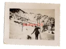 Photo Paul Et Renée Creuly Uniforme Montagne Neige Hiver Homme Bebe 10x7,5 Cm - Identified Persons