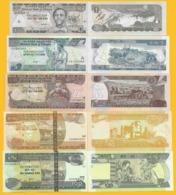 Ethiopia Set 1, 5, 10, 50, 100 Birr 2008-2015 UNC - Ethiopie