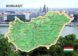 Hungary Country Map New Postcard Ungarn Landkarte AK - Hungría