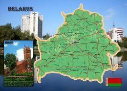 Belarus Country Map New Postcard Weißrussland Landkarte AK - Belarus