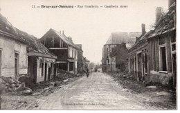 BRAY SUR SOMME - RUE GAMBETTA - Bray Sur Somme