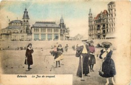 Belgique - Ostende - Le Jeu De Croquet - Couleurs - Oostende