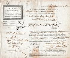 1854 - Roulage BREST-PARIS - MACON & MAZURIE Frères - BILLES DE BOIS D'ÉBÈNE - Documentos Históricos