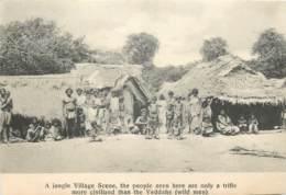 Sri Lanka - Ceylon - A Jungle Village Scene  - Veddahs  ( Sans Feuille Du Verso - Without Back Sheet ) - Sri Lanka (Ceylon)