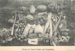 Sri Lanka - Ceylon - Group Of Ceylon Fruits And Vegetables - ( Sans Feuille Du Verso - Without Back Sheet ) - Sri Lanka (Ceylon)