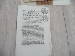 Journal Du Département De La Manche 21 Septembre 1808 N° 76 - Giornali