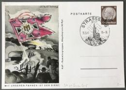 WW2 - Entier Carte - Occupation Allemande De Strasbourg - (C1281) - Postmark Collection (Covers)