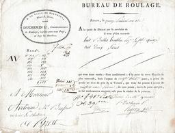 """Prairial AN 12 (1804) Roulage ROUEN-BREST - 8 Balles De HOUBLON - DUCHEMIN Lé """"A LA VILLE DE BORDEAUX"""" - Historische Dokumente"""
