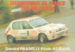 GERARD PRADELLE Sur PEUGEOT 205 GTI 1900 GROUPE A - CHAMPIONNAT DE FRANCE DES RALLYES 1988 - Rally Racing