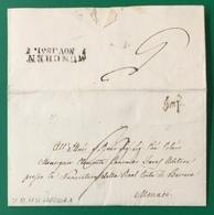 1851 LAPEDONIA IMP PER MONACO DI BAVIERA - 1. ...-1850 Prefilatelia