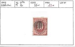 ETATS UNIS N° TAXE 12 OBL - Postage Due