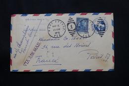 ETATS UNIS - Entier Postal + Complément De Port Arthur Pour La France En 1935 Par Avion  - L 60534 - 1921-40