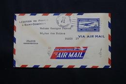 DOMINICAINE - Cachet De La Légation De France Recto / Verso D'une Enveloppe De St Domingue En 1934 Pour Paris  - L 60536 - Dominicaanse Republiek