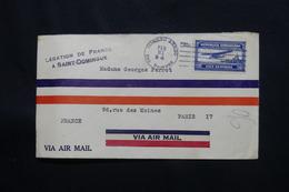 DOMINICAINE - Cachet De La Légation De France Recto / Verso D'une Enveloppe De St Domingue En 1934 Pour Paris  - L 60537 - Dominicaanse Republiek