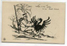 """MILITARIA Illustrateur RADIGUET 1914 """" Notre Ami Jap S'en Met Aussi """" Dépuille L'Aigle Allemand  D07 2020 - Guerra 1914-18"""