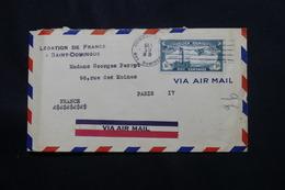DOMINICAINE - Cachet De La Légation De France Recto / Verso D'une Enveloppe De St Domingue En 1933 Pour Paris  - L 60539 - Dominicaanse Republiek