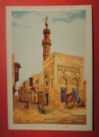 Grand CHROMO. Lith.CAMIS. Exposition Universelle PARIS 1889. Pavillon  De L' EGYPTE. Rue Du CAIRE  Animé. Super état. - Chromos