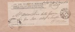 1945 POSTA MILITARE/N.92 C2 (6.11) Su Busta Di Servizio Alleato - 5. 1944-46 Lieutenance & Umberto II