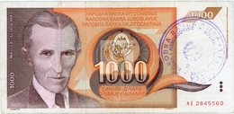 BOSNIE HERZEGOVINE - BOS-1000DIN-1992Ab / P 2 - O°/TTB - COTE IPCbanknotes: 30,00€ - #0031 - Bosnia Y Herzegovina