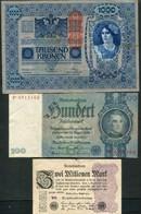 LOT DE 5 BILLETS D'ALLEMAGNE ET D'AUTRICHE - Coins & Banknotes