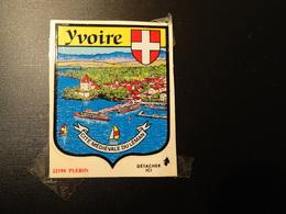 Blason écusson Adhésif Autocollant Yvoire (Haute Savoie) Aufkleber Wappen Sticker Adhesivo Adesivo - Oggetti 'Ricordo Di'