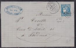 France, Herault - Yvert N° 46B, GC Sur LAC De Ganges D'Avril 1871 - 1849-1876: Période Classique
