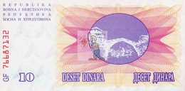BOSNIE HERZEGOVINE - BOS-10DIN-1992 / P 10 - NEUF/UNC - COTE IPCbanknotes: 1,25€ - #0032 - Bosnia Y Herzegovina