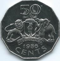 Swaziland - 50 Cents - 1986 - KM43 - UNC - Swaziland