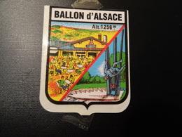 Blason écusson Adhésif Autocollant Ballon D'Alsace (Vosges) Aufkleber Wappen Sticker Adhesivo Adesivo - Obj. 'Remember Of'