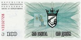 BOSNIE HERZEGOVINE - BOS-100DIN-1992 / P 13 - NEUF/UNC - COTE IPCbanknotes: 2,00€ -  #0035 - Bosnia Y Herzegovina