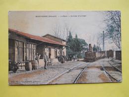 Montagnac ,gare ,train ,couleur - Montagnac