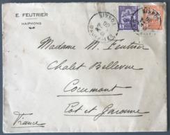 Indochine N°127 Et 131 Sur Lettre De Hai-Phong 1930 Pour La France - (C1291) - Indochine (1889-1945)