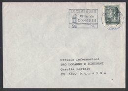 IK109   Luxembourg 1969 - Letter For Muralto Switzerland - 3f Grand Duke Jean Mi.Nr.712 - Luxemburg