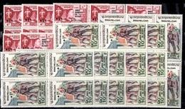 Laos YT N° 69/70 X 30 Paires Neufs ** MNH. TB. A Saisir! - Laos