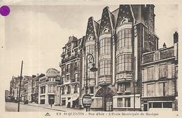 02, Aisne, SAINT QUENTIN, Rue D'Isle - L'Ecole Municipale De Musique, Scan Recto-Verso - Saint Quentin