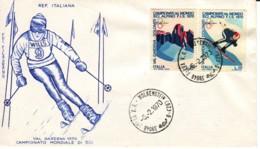 ITALIE : 1970 - FDC - Championnat Mondial De Ski Alpin - Ski