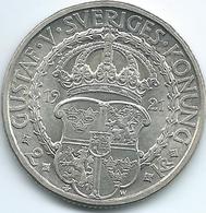 Sweden - 1921 - Gustav V - 2 Kronor - KM799 - 400th Anniversary Of Vasa Liberation War - Suède