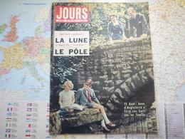 Jour De France N°197 23  Août 1958 Anne D'Angleterre Fête Ses Huits Ans / La Lune / à Bord Du Nautilus Le Pôle - Gente