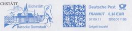 Germany 2011: Dinosaurs, Fossil, Juravenator, Natural History Museum, Eichstaett, Meter Franking, Postmark, Used Cover - Stamps