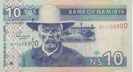 BILLETE DE NAMIBIA DE 10 DOLLARS DEL AÑO 2009  (BANKNOTE) GACELA-DEER - Namibie
