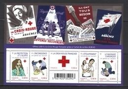 France Bloc Feuillet Neuf Luxe ** 2015 N° F4520 Timbre 4520 à 4524 Croix Rouge Les Gestes Qui Sauvent - Ungebraucht