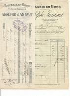 Facture Adolphe Janiaut Lons Le Saunier A M Prost Arinthod Avec Lettere De Change Diu 31 Janvier 1903 - France