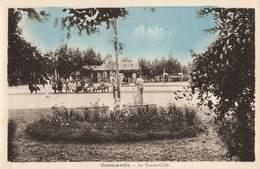 50 Coutainville Le Tennis Club Cpa Carte Animée - Other Municipalities