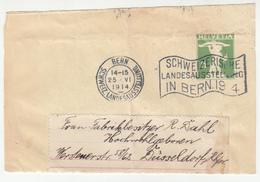 Schweizerische Landesausstellung 1914 Slogan Postmark On Newspaper Wraper Cutout B200501 - Lettres & Documents
