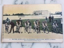 Mayer,Schilling,Ellegaard,Hourlier,Rutt Et Friol.Dans La Finale Du Grand Prix Peugeot. - Cycling