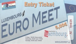 Used Ticket - Swimming / Natation - Euro Meet Luxembourg - Swimming