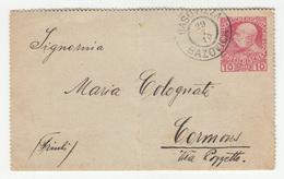 Austria Postal Stationery Letter Card Posted 1910 Basovizza (Bazovica) B200501 - Slovenia